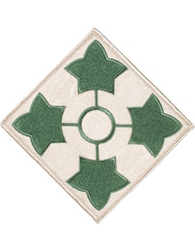 Organization 6in Patch 4 Infantry Division with Heat Seal Full Color