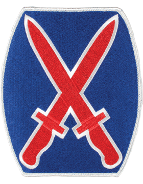 Organization 6in Patch 10 Infantry Division with Heat Seal Full Color