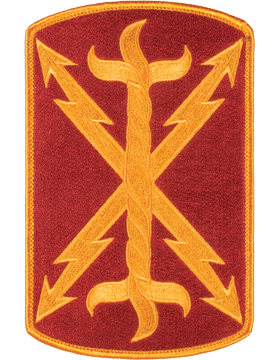 Organization 6in Patch 17 Field Artillery Brigade with Heat Seal Full Color small