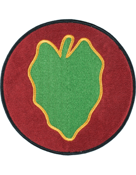 Organization 6in Patch 24 Infantry Division with Heat Seal Full Color small