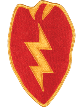 DISPLAY ORG PATCH/6in-0025A-F 25TH INF DIV COLOR with HEAT SEAL