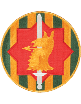 DISPLAY ORG PATCH/6in-0089B-F 89TH MP BRIG COLOR with HEAT SEAL