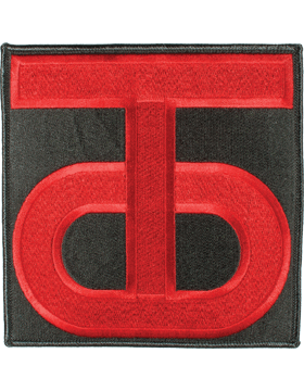 DISPLAY ORG PATCH/6in-0090A-F 90TH RES CMD COLOR with HEAT SEAL