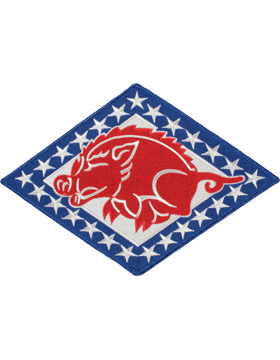 DISPLAY ORG PATCH/6in-NG/AR-F ARKANSAS N/G HQ COLOR with HEAT SEAL