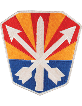DISPLAY ORG PATCH/6in-NG/AZ-F ARIZONA N/G HQ COLOR with HEAT SEAL