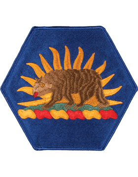 DISPLAY ORG PATCH/6in-NG/CA-F CALIFORNIA N/G HQ COLOR with HEAT SEAL