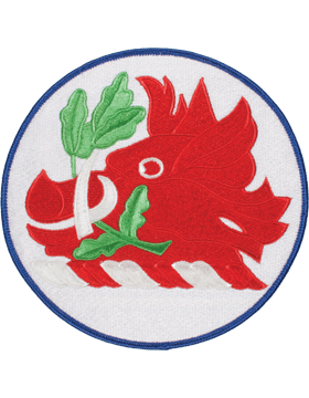 DISPLAY ORG PATCH/6in-NG/GA-F GEORGIA N/G HQ COLOR with HEAT SEAL