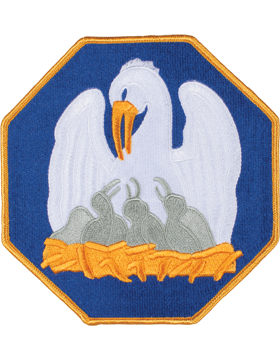 DISPLAY ORG PATCH/6in-NG/LA-F LOUISIANA N/G HQ COLOR with HEAT SEAL