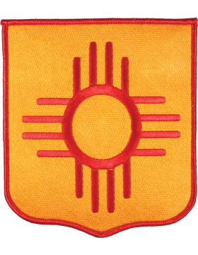 DISPLAY ORG PATCH/6in-NG/NM-F NEW MEXICO N/G HQ COLOR with HEAT SEAL