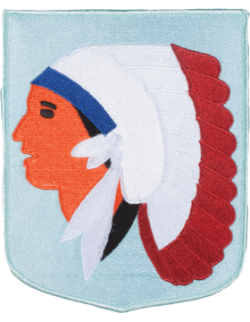 DISPLAY ORG PATCH/6in-NG/OK-F OKLAHOMA N/G HQ COLOR with HEAT SEAL