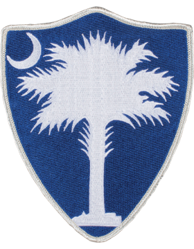 DISPLAY ORG PATCH/6in-NG/SC-F SOUTH CAROLINA N/G HQ COLOR with HEAT SEAL