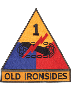 Organization 8in Patch 1 Armor Division with Tab and Heat Seal Full Color