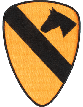 Organization 8in Patch 1 Cavalry Division with Heat Seal Full Color