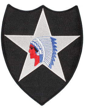 Organization 8in Patch 2 Infantry Division with Heat Seal Full Color