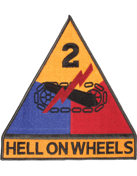 Organization 8in Patch 2 Armor  Division with Tab and Heat Seal Full Color