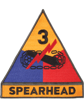 Organization 8in Patch 3 Armor Division with Tab and Heat Seal Full Color