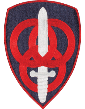 DISPLAY ORG PATCH/8in-0003F-F 3RD PERSONNEL CMD COLOR with HEAT SEAL