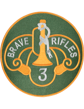 Organization 8in Patch 3 Armor Cavalry Regiment with Heat Seal Full Color