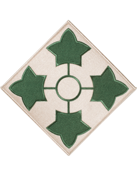 Organization 8in Patch 4 Infantry Division with Heat Seal Full Color