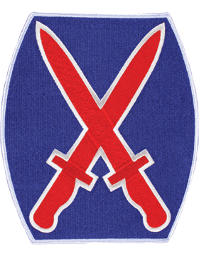 Organization 8in Patch 10 Infantry Division with Heat Seal Full Color
