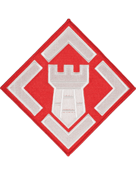 Organization 8in Patch 20 Engineer Brigade Brigade with Heat Seal Full Color