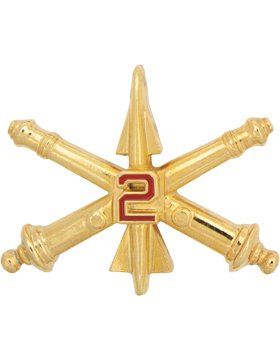 No-Shine 2nd Air Defense Artillery Officer Regimental BOS (Pair)