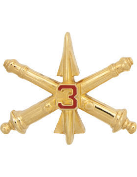 No-Shine 3rd Air Defense Artillery Officer Regimental BOS (Pair)