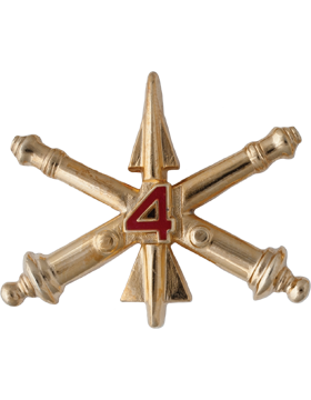 No-Shine 4th Air Defense Artillery Officer Regimental BOS (Pair)