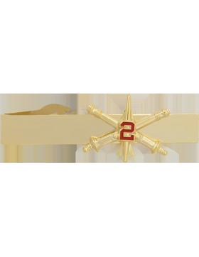2nd Air Defense Artillery BOS Officer Tie Bar