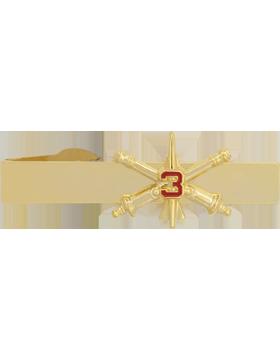3rd Air Defense Artillery BOS Officer Tie Bar