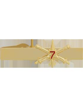 7th Air Defense Artillery BOS Officer Tie Bar