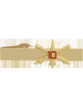 10th Air Defense Artillery BOS Officer Tie Bar