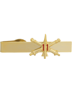 No-Shine (NS-TB-RO-ADA-011) 11th Air Defense Artillery BOS Officer Tie Bar