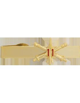 11th Air Defense Artillery BOS Officer Tie Bar