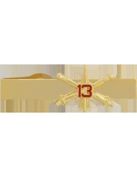 13th Air Defense Artillery BOS Officer Tie Bar