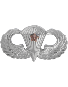 NS-307/1, No-Shine Badge Parachutist w/ One Combat Star