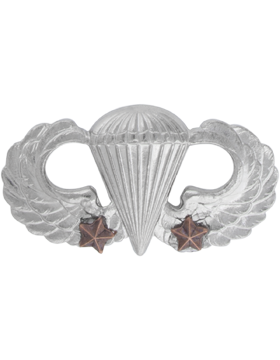 NS-307/2, No-Shine Badge Parachutist w/ Two Combat Stars