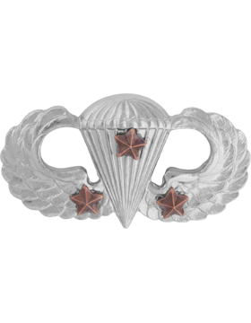 NS-307/3, No-Shine Badge Parachutist w/ Three Combat Stars