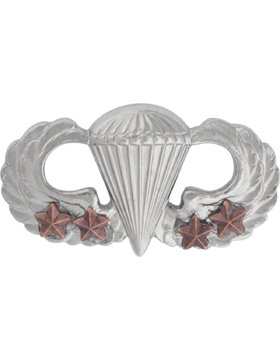 NS-307/4, No-Shine Badge Parachutist w/ Four Combat Stars