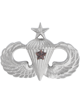 NS-308/1, No-Shine Badge Senior Parachutist w/ 1 Combat Star