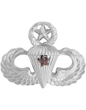 NS-309/1, No-Shine Badge Master Parachutist w/ 1 Combat Star
