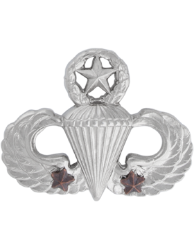 NS-309/2, No-Shine Badge Master Parachutist w/ 2 Combat Stars