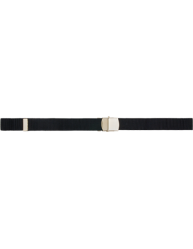 Nylon Belt with Gold Buckle and Tip