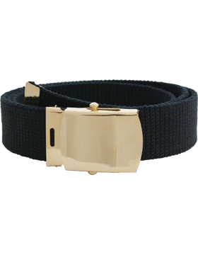 US Army Cotton Web Belt with Brass Tip