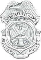 No-Shine Military Police Badge (Nickel)