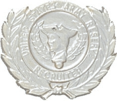 No-Shine Army Reserve Recruiter Badge