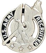 No-Shine Army Recruiter w/ Three Stars (Gold)