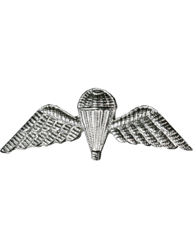 No-Shine (NS-952A) Senior British Parachutist Wing (Silver)