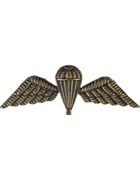 No-Shine (NS-952) Basic British Parachutist Wing (Bronze Ox)