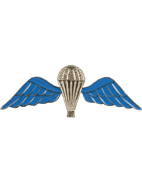 No-Shine (NS-974) British Large Parachutist Wings (Blue and Silver SR2042)